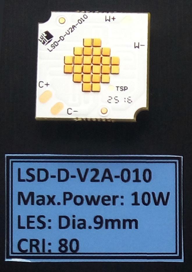 LED灯珠 三星双色COB 10W