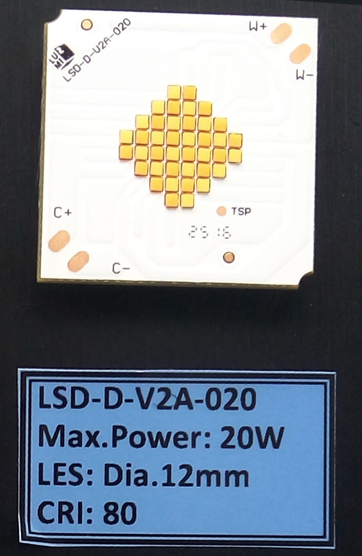 LED灯珠 三星双色COB 20W